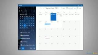 Using the Calendar in Windows 10