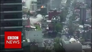 Mexico: Moment earthquake struck - BBC News