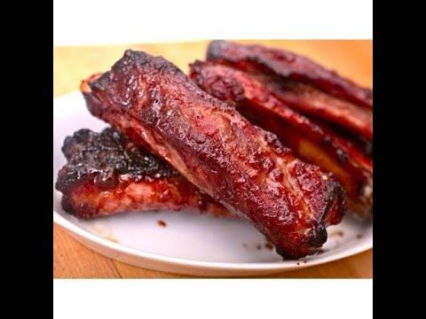 Дополнение к Куриным лапкам. Свиные ребрышки и Куриные шейки в карамельно- соевом соусе с чесноком.