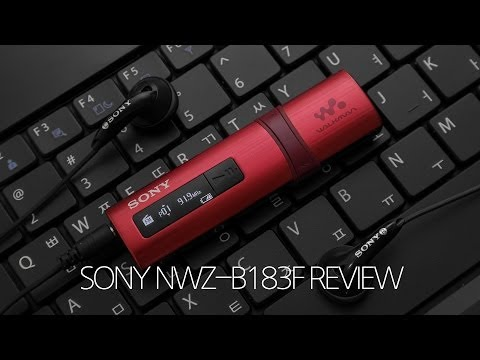 Stylish MP3 Player SONY Walkman NWZ-B183F Review!