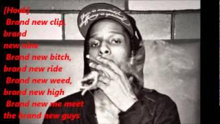 Asap Rocky ft. Schoolboy Q - Brand New Guy  (Lyrics On Screen)