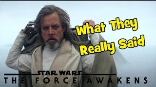 "Star Wars 7: A Bad Lip Reading (""What They Really Said"")"