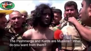 Допрос курдами пленных боевиков ИГИЛ / субтитры