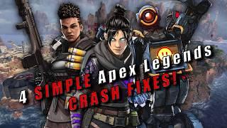 4 SIMPLE Apex Legends CRASH FIXES! (Still work MAY 2020)