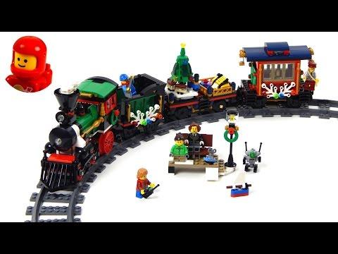 Vidéo LEGO Creator 10254 : Le train de Noël