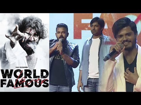 Tharun Bhaskar And Priyadarshi at World Famous Lover Pre Release Event