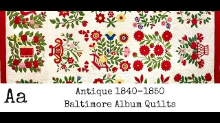 Fabulous Quilt Exhibitions (No: 1) | Antique Baltimore Album Quilts Dated 1840-1850