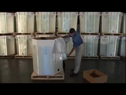 Corrugated Bulk Liquid Container EZ-BULK 48x40 Filling a Form Fit Liquid Liner