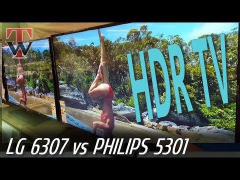 LG SMART TV UJ6307 vs Philips PFS5301 [HDR]