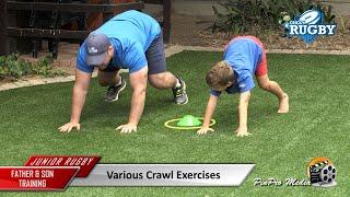 Junior Rugby: Various Crawl Exercises