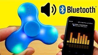 Спиннер с Блютус Колонкой с Алиэкспресс! Spinner LED Bluetooth Speaker