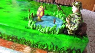 Фото торты на тему рыбалки