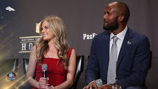 Champ Bailey, Annabel Bowlen introduced at Hall of Fame press conference