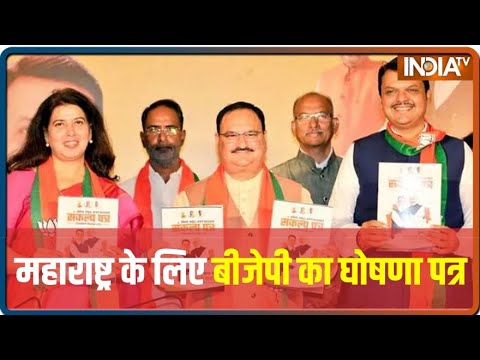 BJP Releases Party Manifesto For Upcoming Maharashtra Assembly Elections