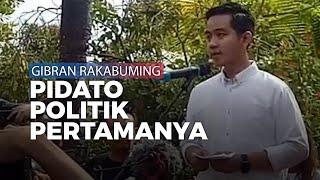 Pidato Politik Pertama Gibran Rakabuming sebelum Berangkat Daftar Jadi Calon Wali Kota Solo