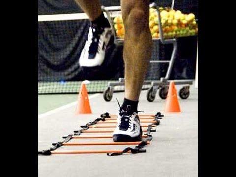 テニス選手が行うアジリティアップのための【ラダートレーニング】