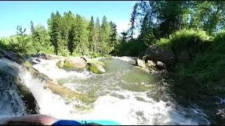 Пещерский водопад сверху видео 360