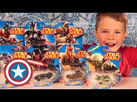 STAR WARS HOT WHEELS Character Car 8-Pack Unboxing & Play!