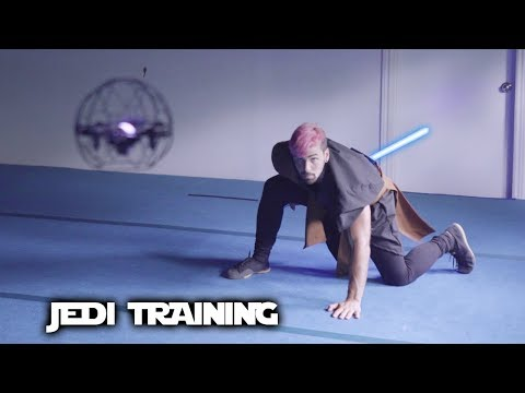 Jedi Lightsaber Training In Real Life (Star Wars Parkour)
