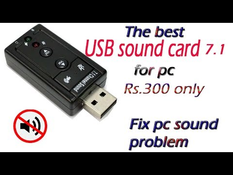 USB sound card hindi | how to fix pc sound problem | full review