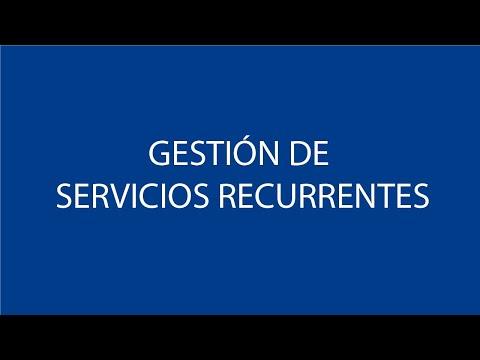 Gestión de Servicios Recurrentes