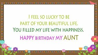 Birthday Wishes for Aunt from Niece ||  Aunt Birthday Card