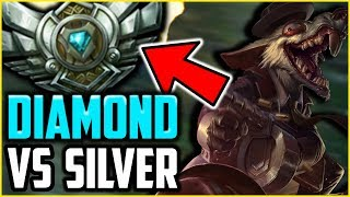 I Decided to help my Mod Get GOLD!  DIAMOND TWITCH MAIN VS SILVER ELO - League of Legends