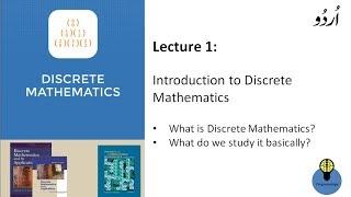 Lecture 1: Introduction to discrete mathematics in hindi Urdu, what is discrete mathematics,