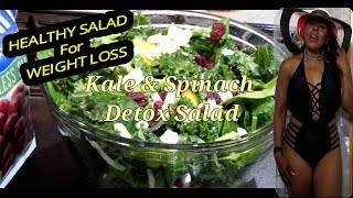 LOSE WEIGHT FAST || Kale & Spinach Detox Salad  || Meal Replacement
