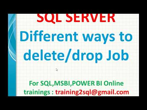 Different ways to delete or drop Job in SQL Server Agent | Job creation in SQL Agent