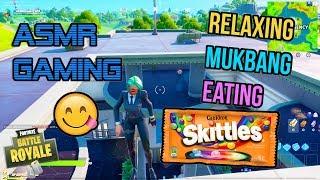ASMR Gaming 🍬 Fortnite Skittles Chewy Mukbang Eating Commentary 먹방 🎮🎧 Relaxing Whispering 😴💤