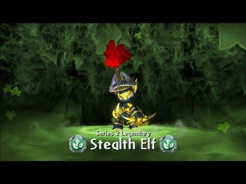 Skylanders Giants - Legendary Stealth Elf
