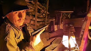 Spending the NIGHT in a German WW2 TRENCH! Living in a WWII Trench for a Day!