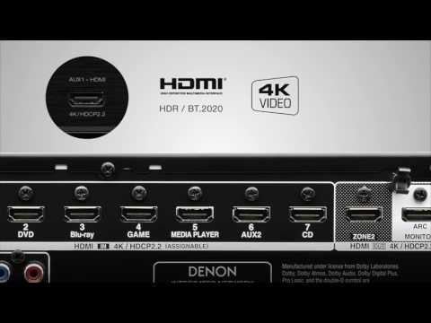 The new Denon AVR X Series models AVR X3300W, AVR X2300W & AVR X1300W