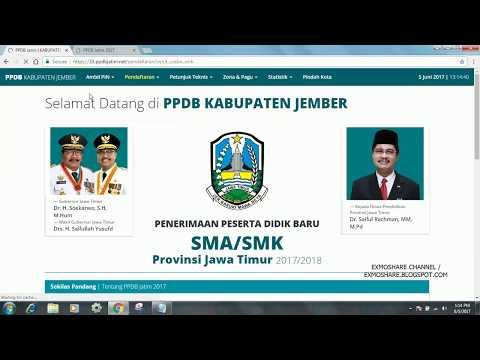 Video CARA SIMULAI PENDAFTARAN SMA ATAU SMK ONLINE