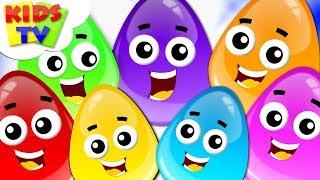 Colors For Kids | Crazy Eggs Cartoon | Learning Videos For Children - Kids Tv