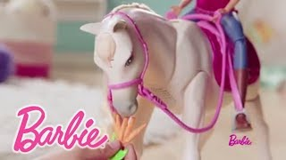 """Игровой набор """"Барби"""" - Кукла и лошадь мечты (звук, движение) от компании Интернет-магазин """"Timatoma"""" - видео"""