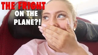 The fright of our lives on the plane!! *caught on camera* + the funniest vlog!!