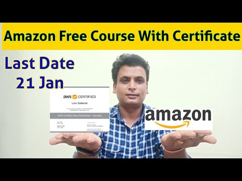 Amazon Aws free course with certificate | Aws free certificate |AWS ...