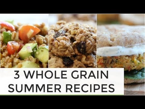 3 Whole Grain Summer Recipes | Sliders + Salad + Cookies
