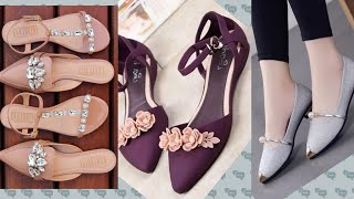 Latest And Simply Stylish Flat Sandals And Shoes Collection 2019/Casual And Formal Footwear For Eid
