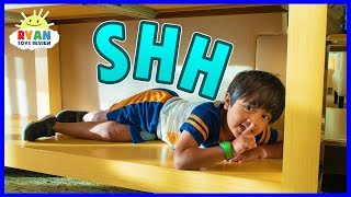 Best Hiding Spot in Disney Hotel! | Hide and Seek Pretend Play with Ryan!!!