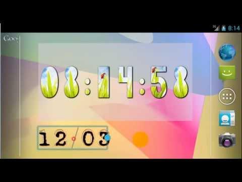 Video of Yaclock digital clock Widget