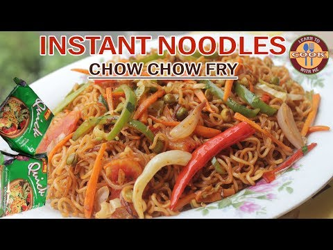CHOW CHOW FRY Recipe – Easy & Quick Breakfast Recipe | Veg. Instant Noodles Wai Wai