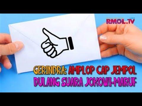 Gerindra: Amplop Cap Jempol Dulang Suara Jokowi-Maruf
