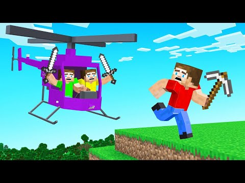 HUNTERS vs SPEEDRUNNER With HELICOPTERS! (Minecraft)