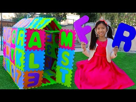 ABC Playhouse Song | Wendy Pretend Play w/ ABCs Toys & Learns the Alphabet Nursery Rhymes Songs