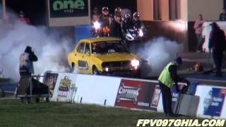 SDR MOTORSPORT MAZDA RX2 13B TURBO RUNS 9.64 @ 137 MPH – SYDNEY DRAGWAY – 7.9.2011