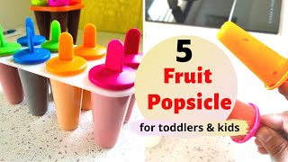 5 sugarfree FRUIT POPSICLES ( for toddlers & kids ) - watermelon mango blueberry cherry strawberry