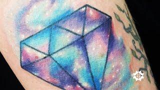 Diamond Galaxy Watercolor Tattoo By Kran